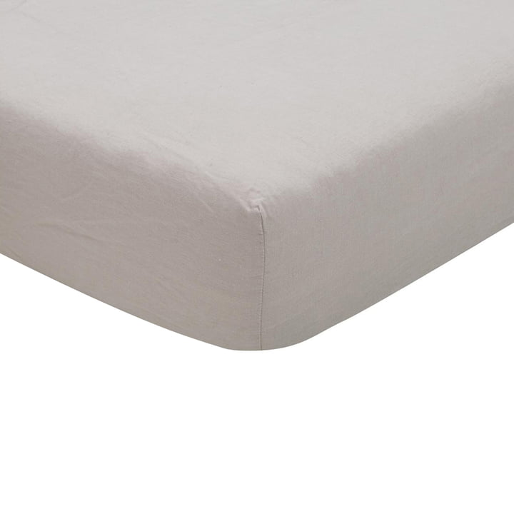 Maxime Fitted sheet, sand from Passion for Linen