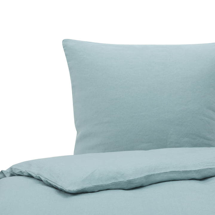 Maxime Bed linen 135 x 200 cm, ocean green from Passion for Linen