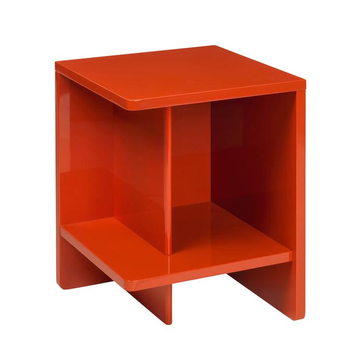Tenna Bedside table, left from Broste Copenhagen in pureed pumpkin orange