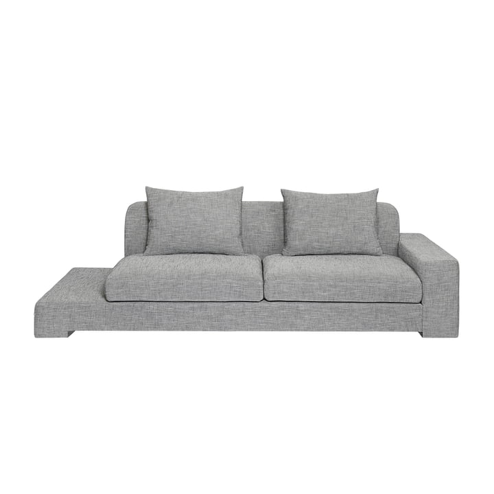 Bay 2 seater sofa with shelf right from Broste Copenhagen in grey