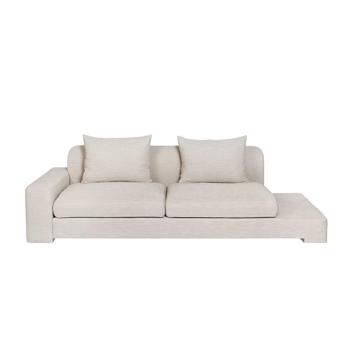 Bay 2-seater sofa with shelf left from Broste Copenhagen in beige