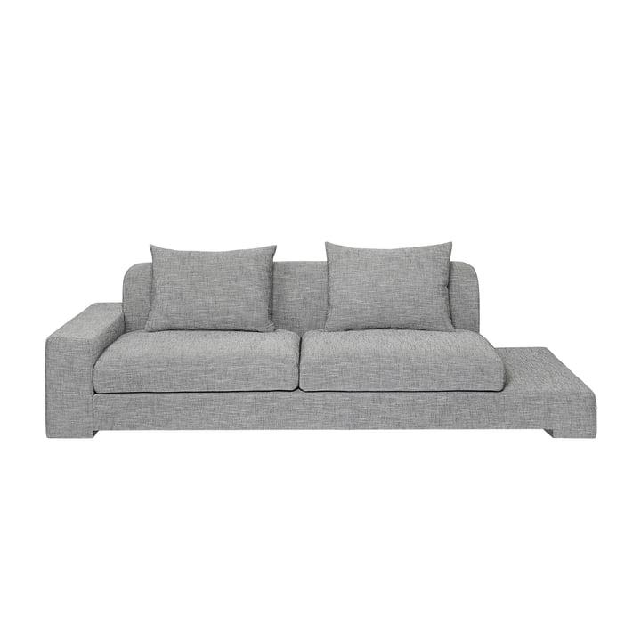 Bay 2 seater sofa with shelf left from Broste Copenhagen in grey