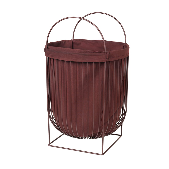 Arild Laundry basket from Broste Copenhagen in the variant puce aubergine