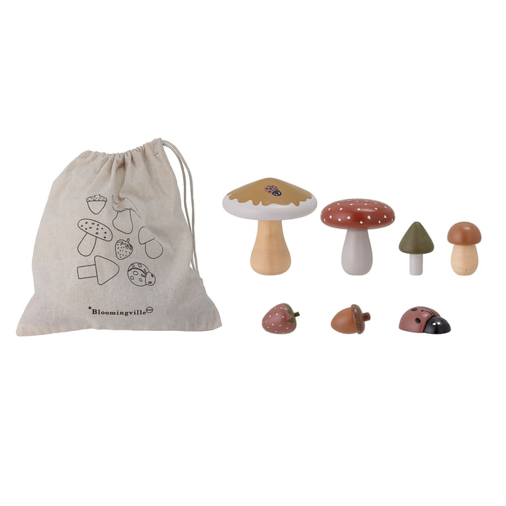 Jonn Toy from Bloomingville in Lotus nature (7 pieces)
