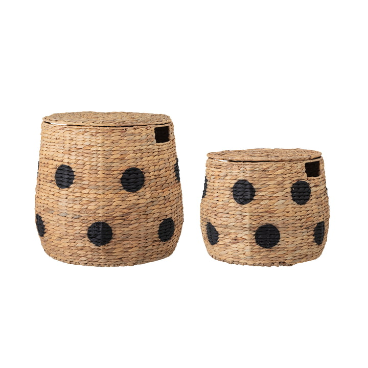 Thinne Storage baskets from Bloomingville made of water hyacinth natural (set of 2)