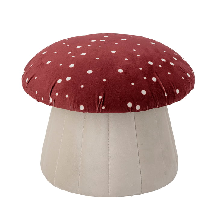 Lue Pouf from Bloomingville in red