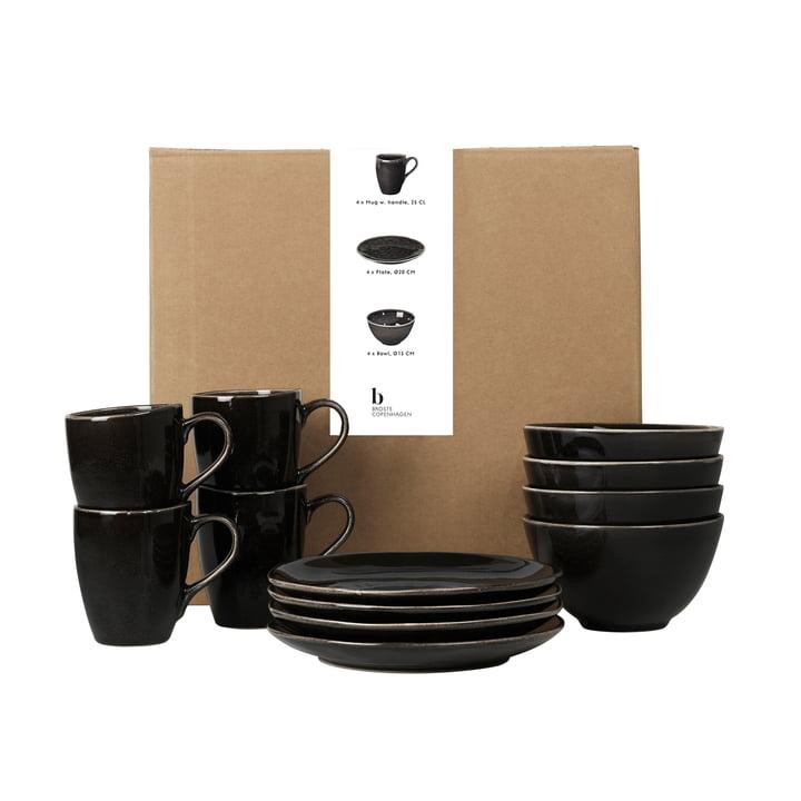 Nordic Coal Tableware breakfast set from Broste Copenhagen