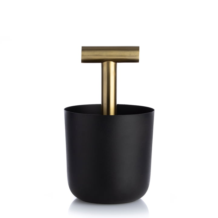 Carry Away Container with handle, black / brass from XLBoom