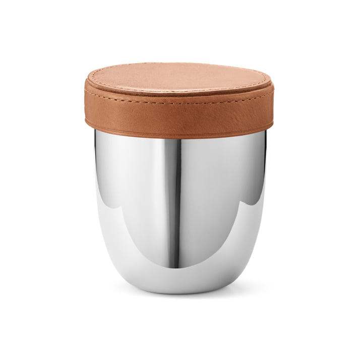 Sky Stainless steel cube travel set with mug from Georg Jensen