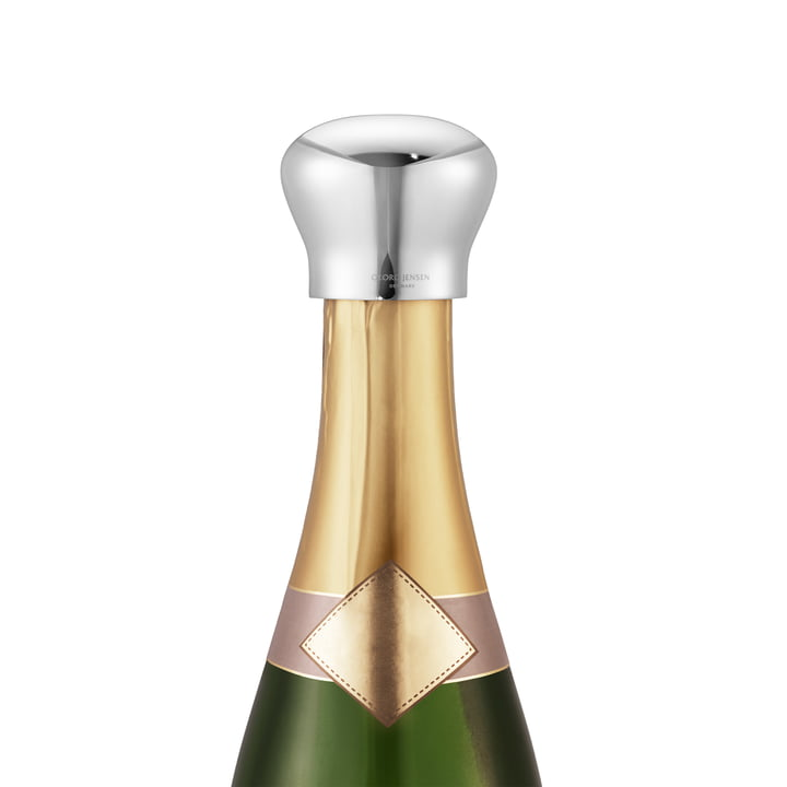 Sky Stainless steel champagne stopper from Georg Jensen