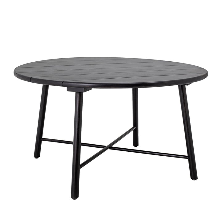 The Lope dining table from Bloomingville , Ø 140, acacia, black