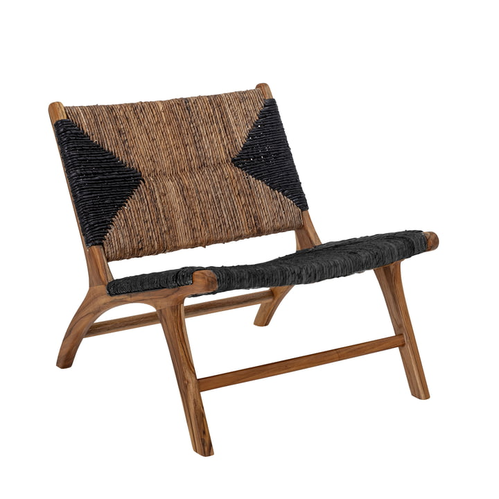 The Grant lounge chair from Bloomingville , teak, black