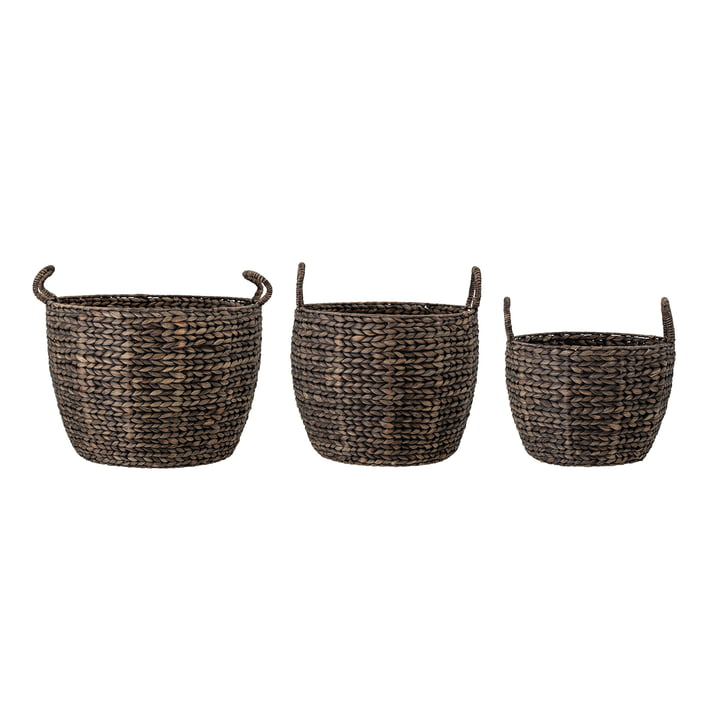 The Nael basket set from Bloomingville , water hyacinth (set of 3)