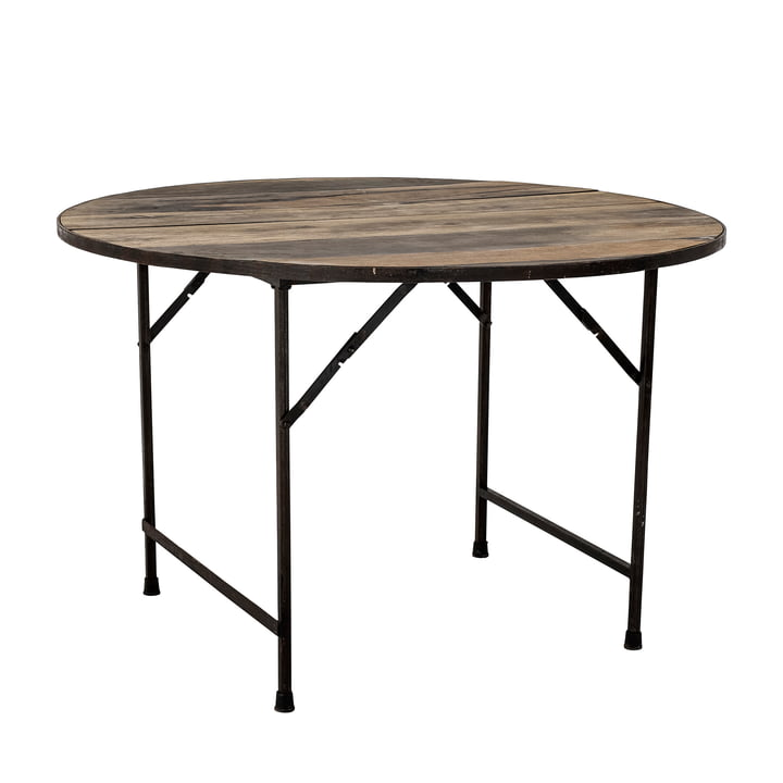 The Louis dining table from Bloomingville , Ø 120 cm, brown