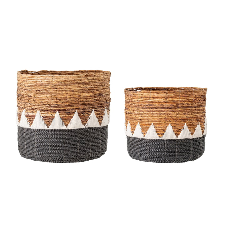 The Naimi Basket Set from Bloomingville , Banana Leaf (Set of 2)