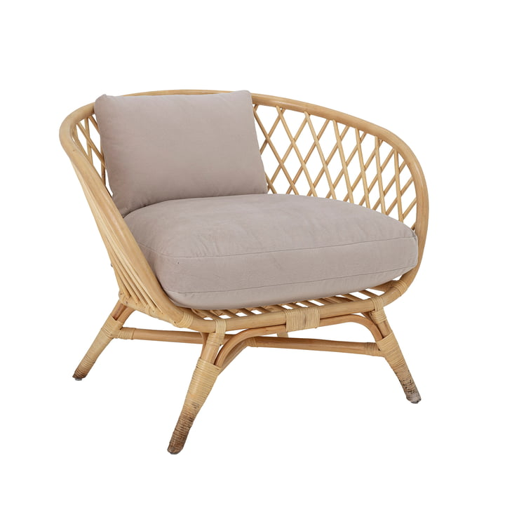 The Natali lounge chair from Bloomingville , rattan, nature