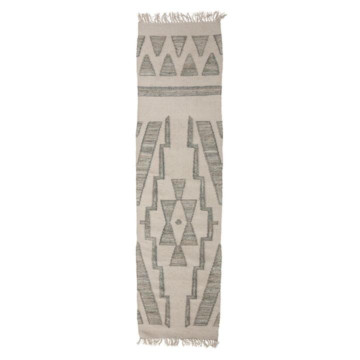 The Delara carpet runner from Bloomingville , 240 x 60 cm, green