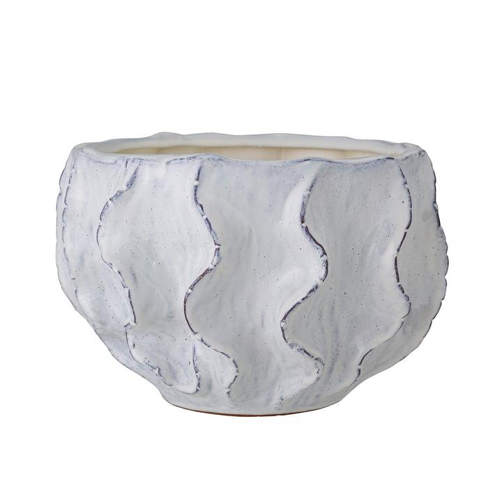 The Liren flower pot from Bloomingville , stoneware, white