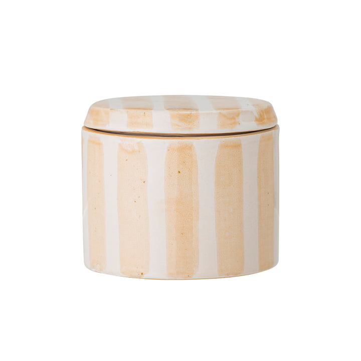 Cathe Storage box with lid H 7,5 cm, yellow from Bloomingville