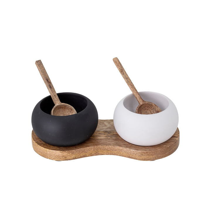 The Fig salt and pepper box from Bloomingville , black