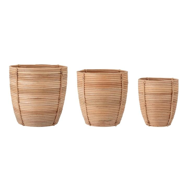 Karly Basket set, natural (set of 3) from Bloomingville