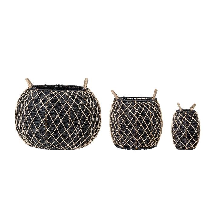 Karia Basket set, sea grass (set of 3) from Bloomingville