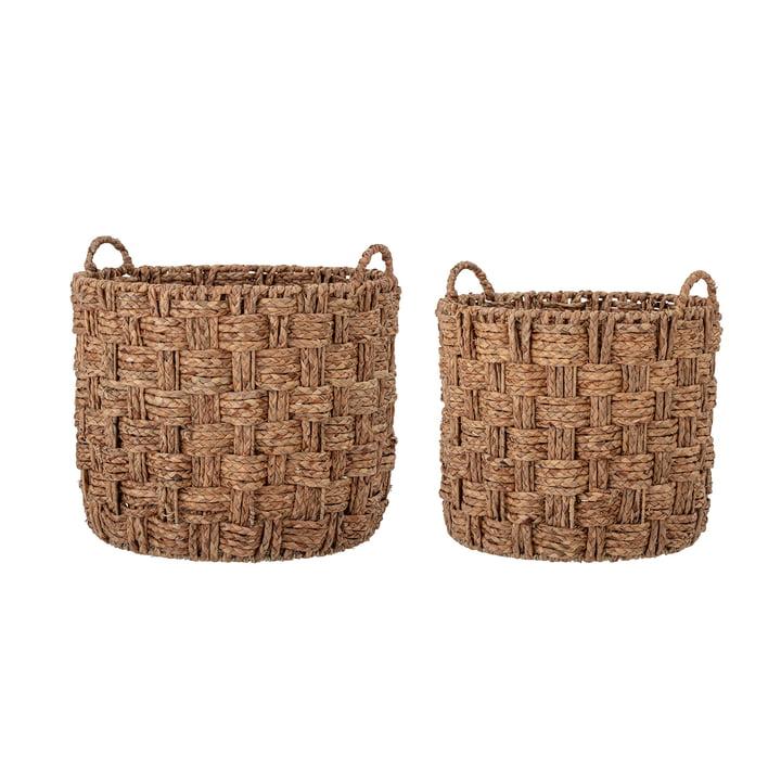 Kasia Basket set, sea grass (set of 2) from Bloomingville