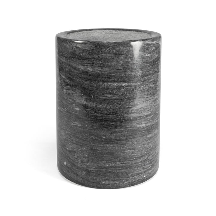 Marble utensil container, dark grey / H 16 cm from yunic
