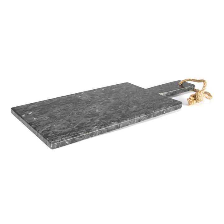 Marble cutting board, dark grey / 35 x 15 cm from yunic