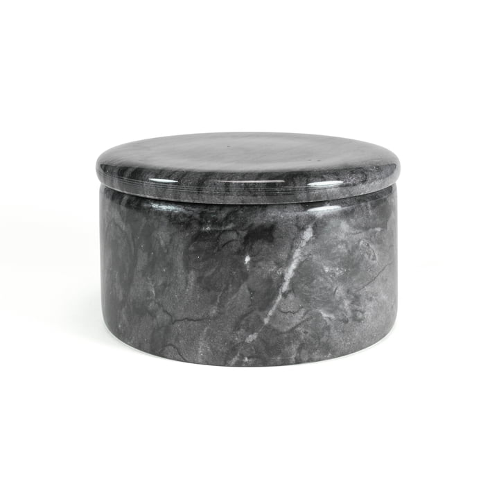 Marble storage with lid, dark grey, 12 cm / H 7 cm from yunic