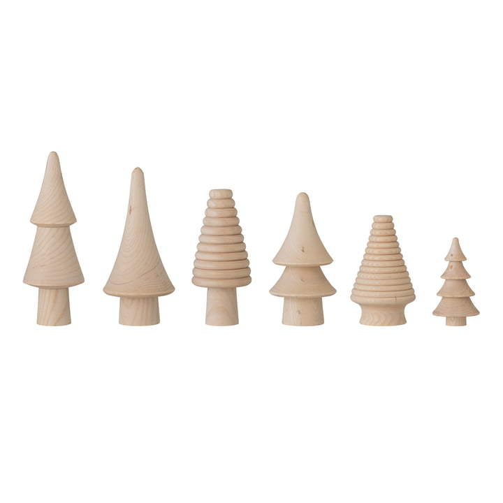Rias Decorative Christmas tree (set of 6) from Bloomingville in nature