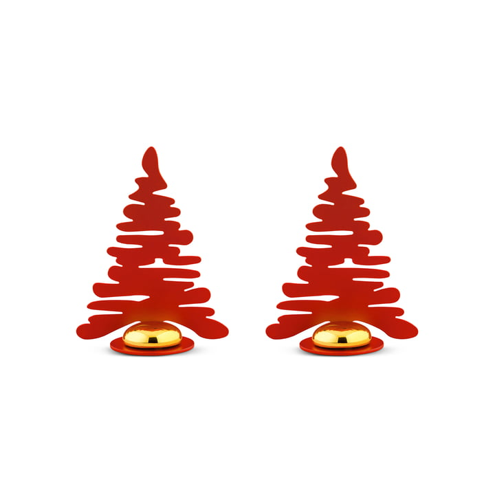 Bark for Christmas Place card holder (set of 2) from Alessi in red