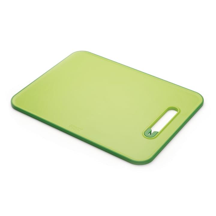 Slice & Sharpen Cutting board with knife sharpener from Joseph Joseph in green