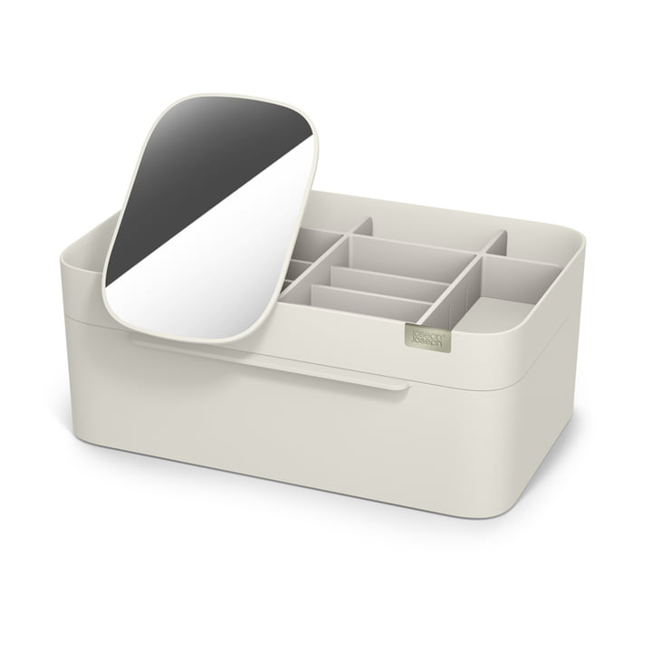 Viva Cosmetic organizer with mirror large from Joseph Joseph in shell colour