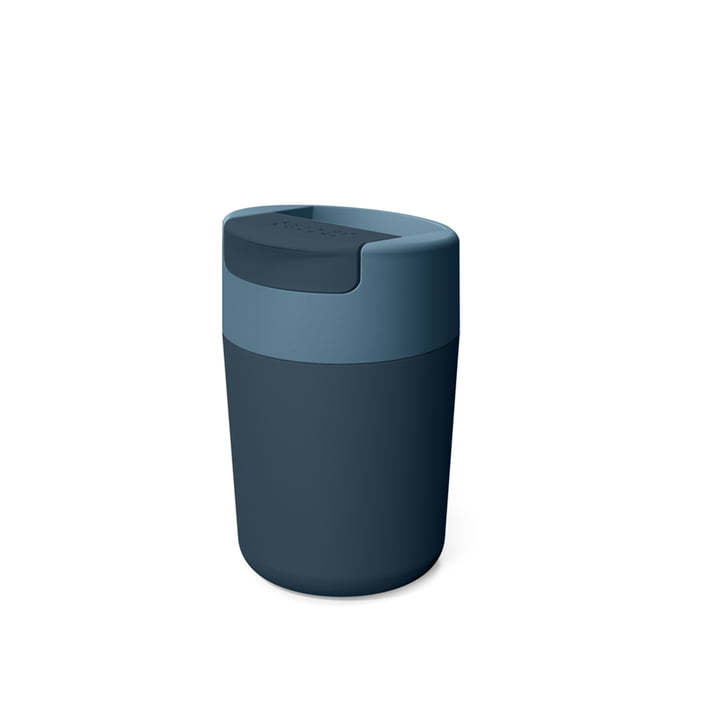 Sipp Travel mug with hinged lid 340 ml from Joseph Joseph in blue