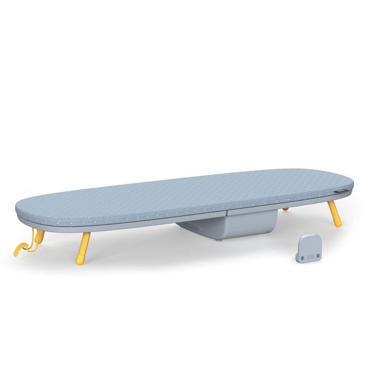 Glide Pocket Table ironing board from Joseph Joseph in grey / yellow