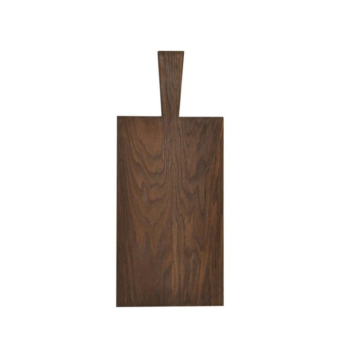 Raumgestalt - Cutting board with handle, oak dark oiled (29,5 x 16,5 x 1,8 cm + handle 10 cm)