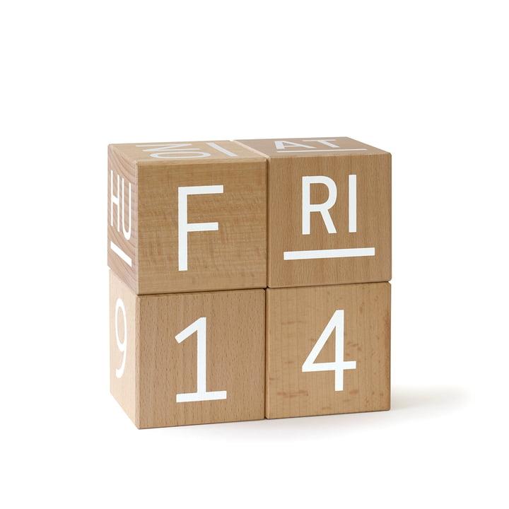 uptodate Cube calendar Global from siebensachen in beech