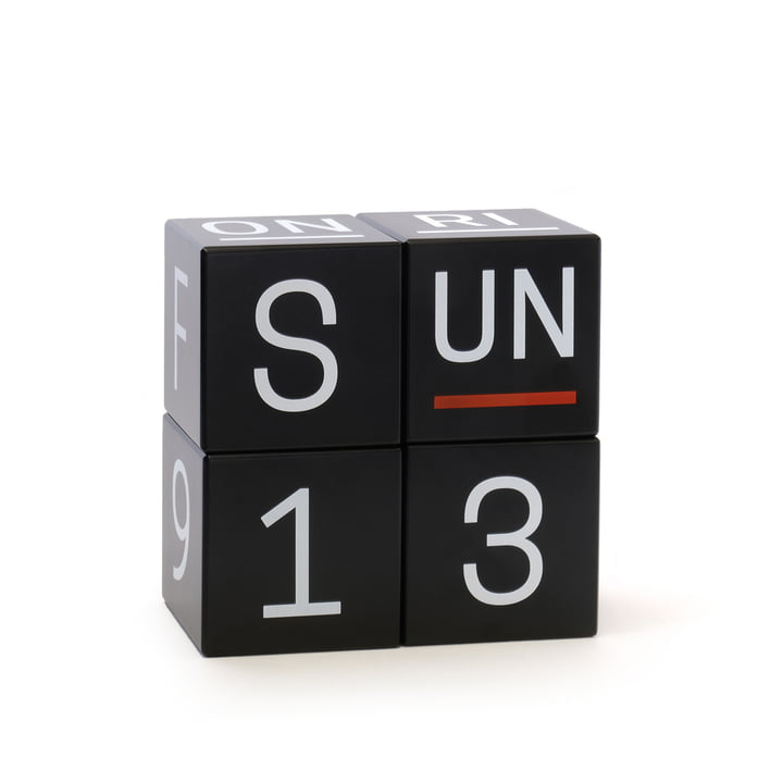 uptodate Cube calendar Global from siebensachen in black