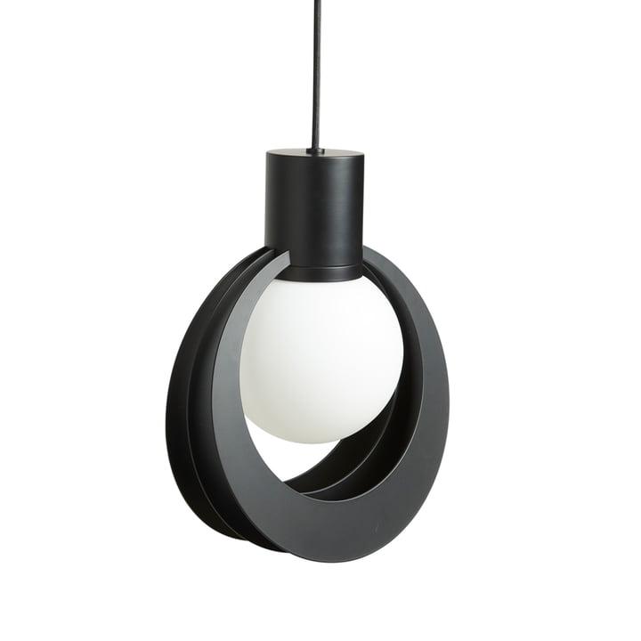 Lunar Pendant light Medium from Woud in black