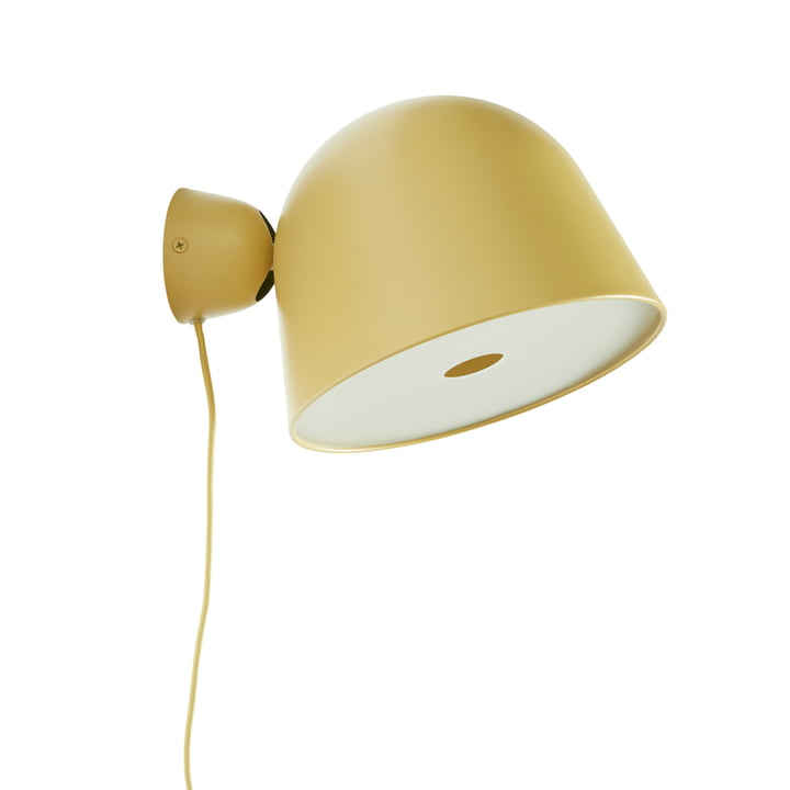 Kuppi Wall lamp 2. 0 from Woud in mustard yellow (Pantone 7555)