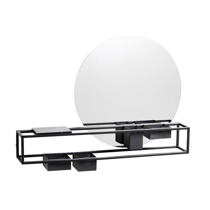 Mirror Box, Ø 50 cm from Woud in black