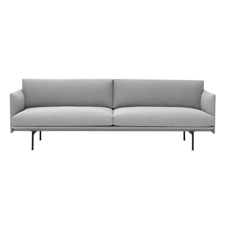 Outline Sofa 3-seater from Muuto in Vancouver 14 / black