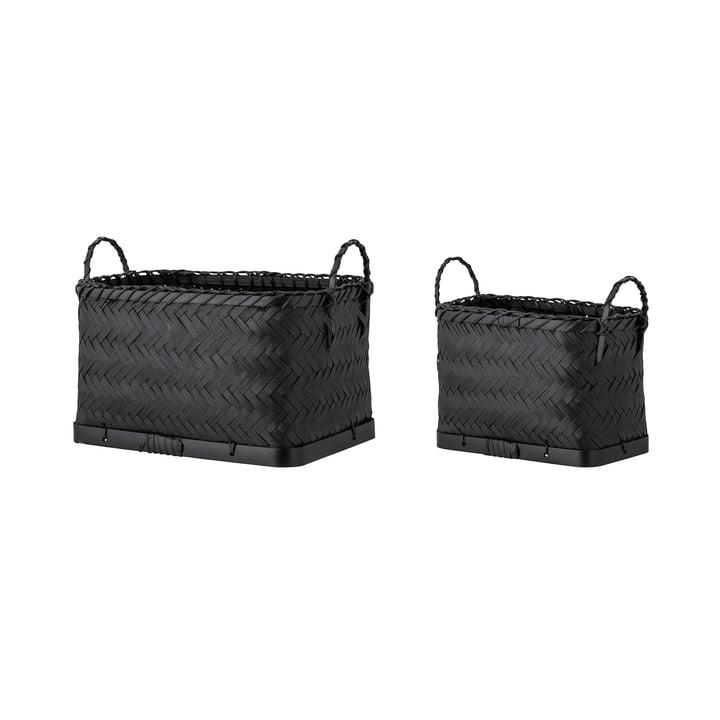 Carmil Storage basket, black (set of 2) from Bloomingville