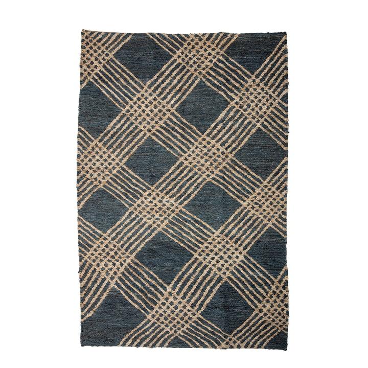 Cat Jute carpet 150 x 245 cm from Bloomingville in dark grey / nature