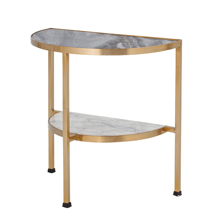 Clint Side table from Bloomingville in gold / marble