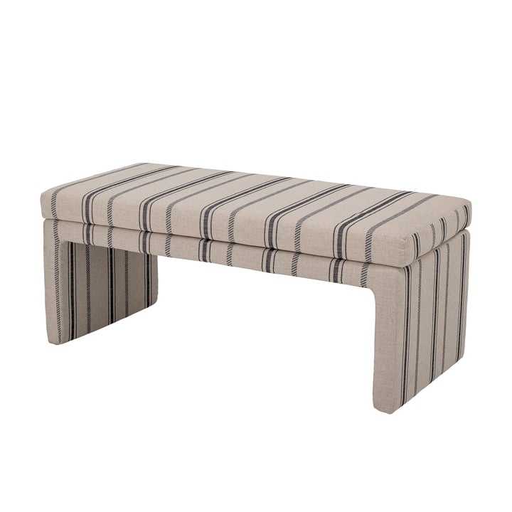 Cai Bench from Bloomingville in natural white / black