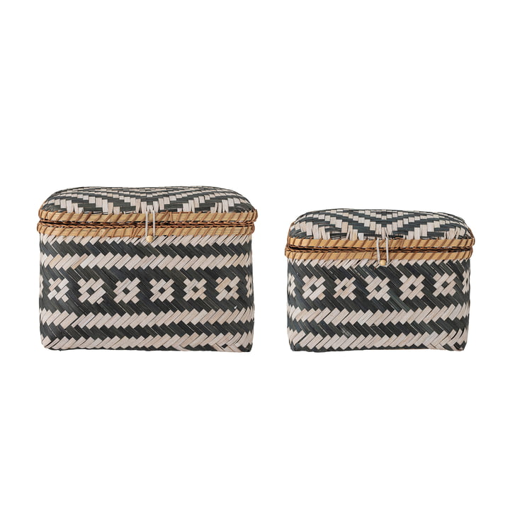 Lar Storage baskets from Bloomingville in the colours black / white