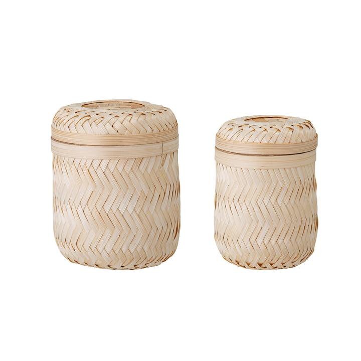 Jun Storage basket from Bloomingville made of natural bamboo (set of 2)