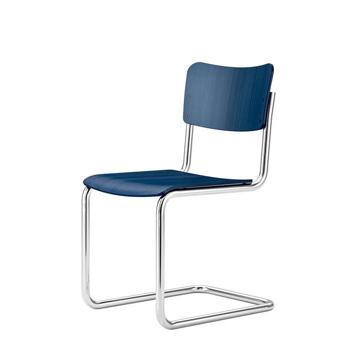 Children's chair S 43 K from Thonet in cobalt blue